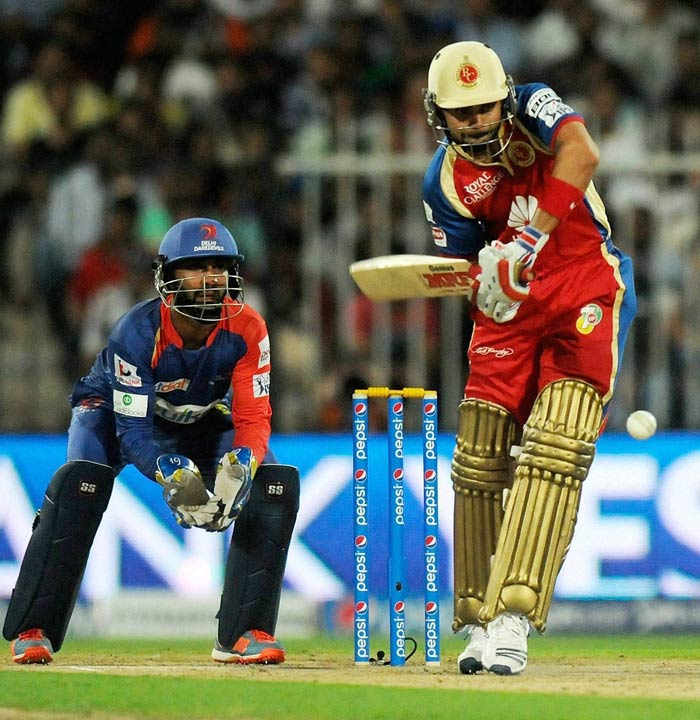 Skipper Virat Kohli too played a fluent knock - 49*. The two guided RCB to a win in just 16.4 overs. (BCCI image)