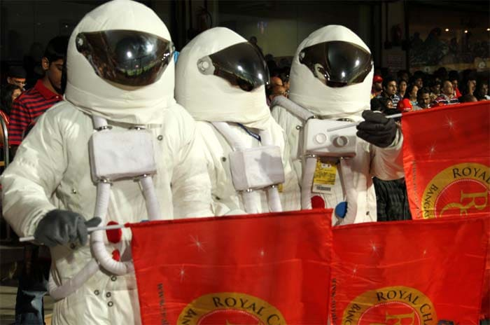 These astronauts have made regular 'landings' here and have been seen at most of RCB's home matches this season. (BCCI image)