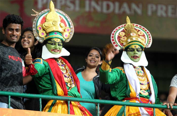 A few fans here go to great lengths to dress themselves up for a cricket match. The image above is a resounding proof. (BCCI image)