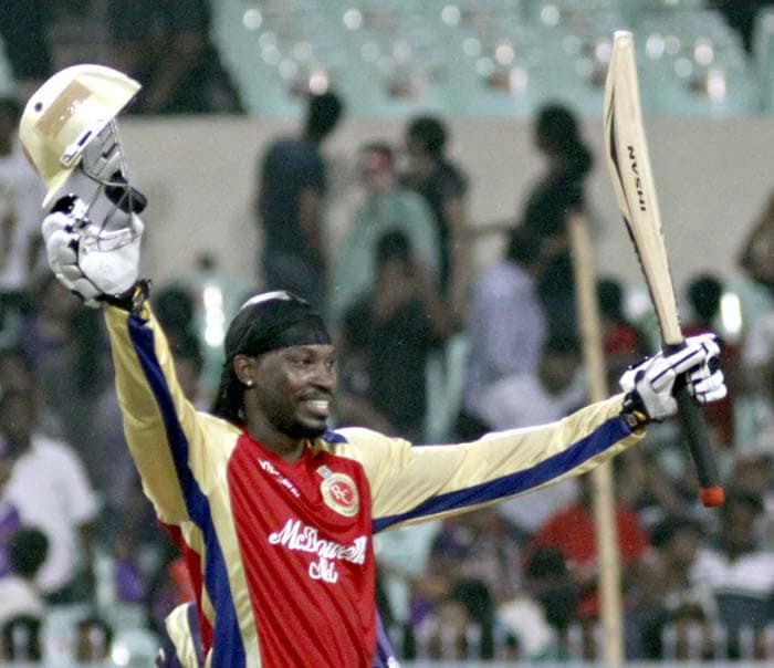 Gayle, supported well by Kohli who hit 30 off 23 balls, completed his century with the winning runs and remained unbeaten on 102 off 55 balls with seven sixes.