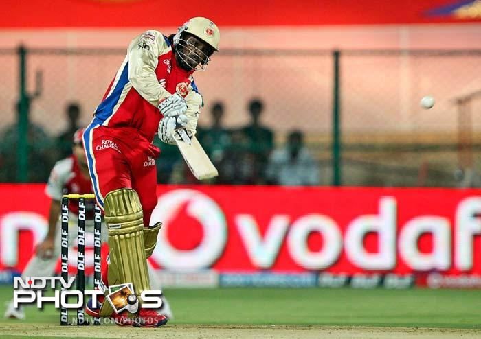 Earlier, Bangalore failed to capitalise on Chris Gayle's knock of 71 off 42 balls as they got only 32 runs in the last 4.4 overs. (AP Photo)