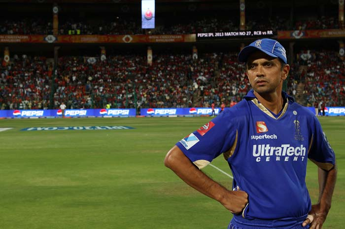 Rahul Dravid returned 'home' away from IPL home as Rajasthan Royals took on Royal Challengers Bangalore in Bengaluru. Virat Kohli though won the toss and chose to put Rajasthan in to bat. (BCCI Image)