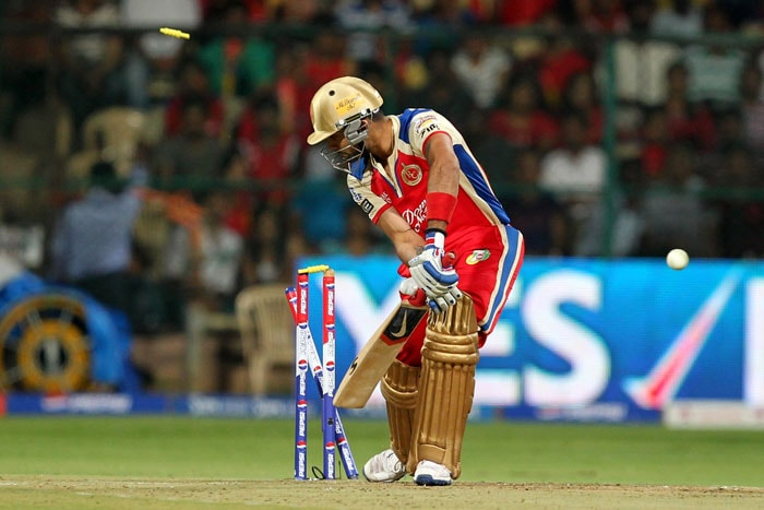 Rajasthan then roared back into the game with back-to-back wickets of in form batsmen Virat Kohli and AB de Villiers. Kohli was done in by the impressive Faulkner via a slower delivery as the Indian vice-captain inside edged one on to his stumps. (BCCI Image)