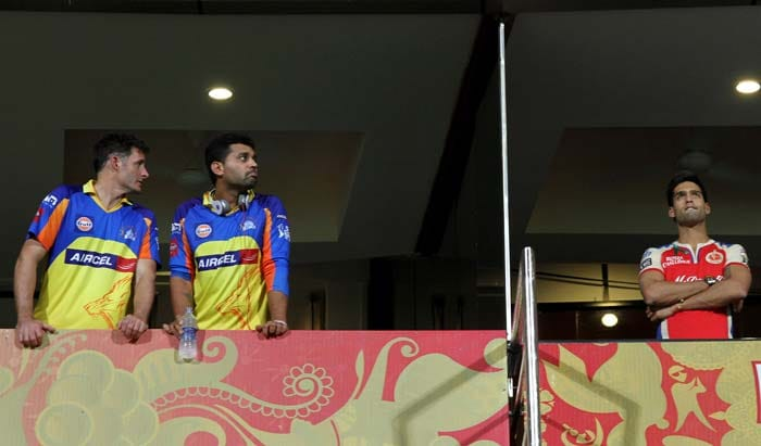 It was an anxious wait for the players and owners alike as the rain kept the teams indoors. (BCCI image)