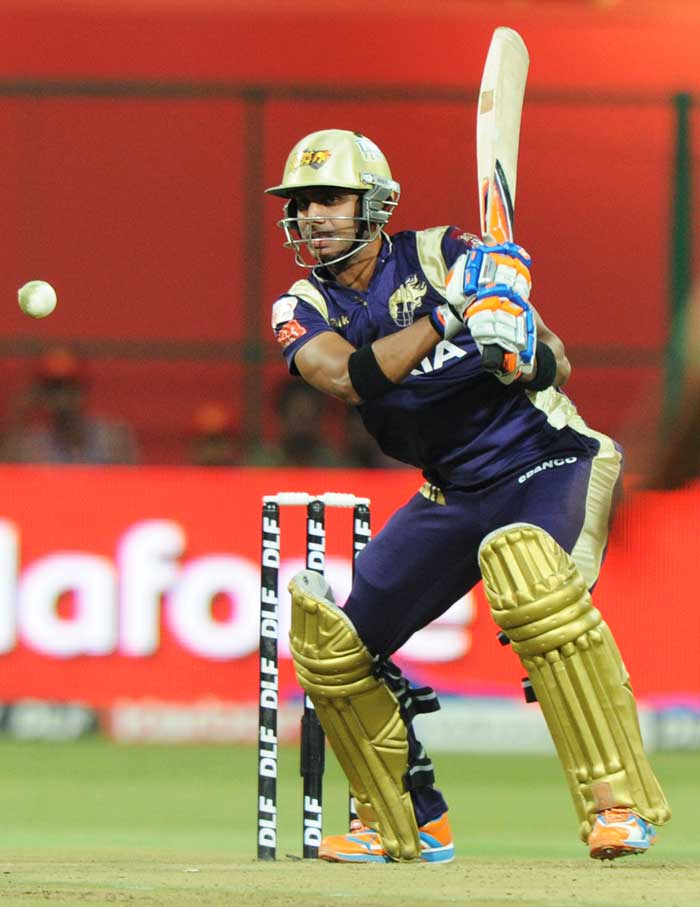 Play resumed but the match had to be reduced to 13 overs a side which meant that the Kolkata Knight Riders had only two more overs to play. (AFP Photo)
