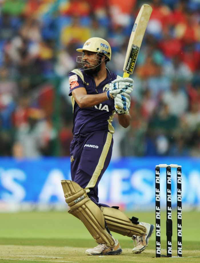 Some good hitting at the end set up a target of 90 for the Bangalore Royal Challengers which had to be revised to 102 considering the impact of rain on the Kolkata innings. (AFP Photo)