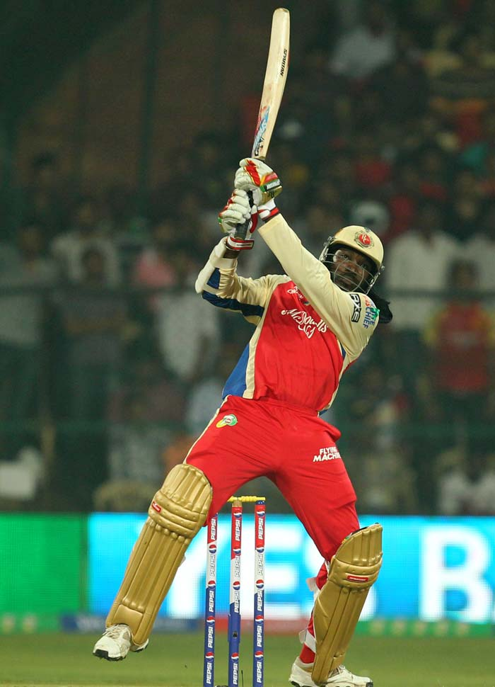 He eventually found his rhythm to unleash full fury. Gayle's knock of 92 took him just 58 deliveries as his ferocious hitting took the hosts to 156.(BCCI Image)