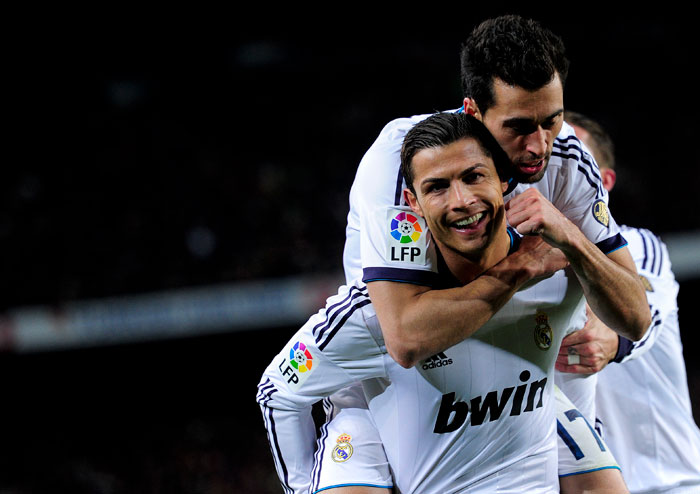 Ronaldo opened the scoring for the visitors and it was advantage Real Madrid.