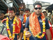 Photo : Religious side of Indian cricketers