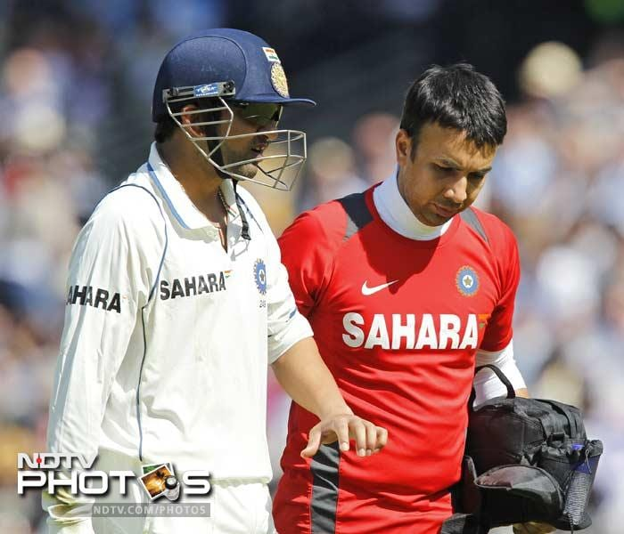 <b> Gautam Gambhir:</b> The flamboyant opener was in for a lot of pain when he was struck by a Prior sweep. Interestingly, he managed to score more (22) batting with a sore arm than in the first innings (15).