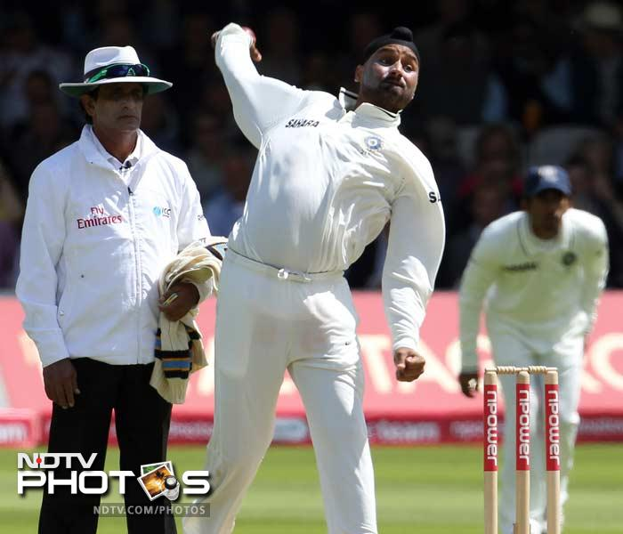 <b>Harbhajan Singh:</b> Bowled and bowled and bowled. Then took a wicket and then he bowled. With spin not expected to play a big role in the Test, Harbhajan went about his job with uncharacteristic calm. He did not create much fuss with the bat either but then again, he is a full-time bowler after all.