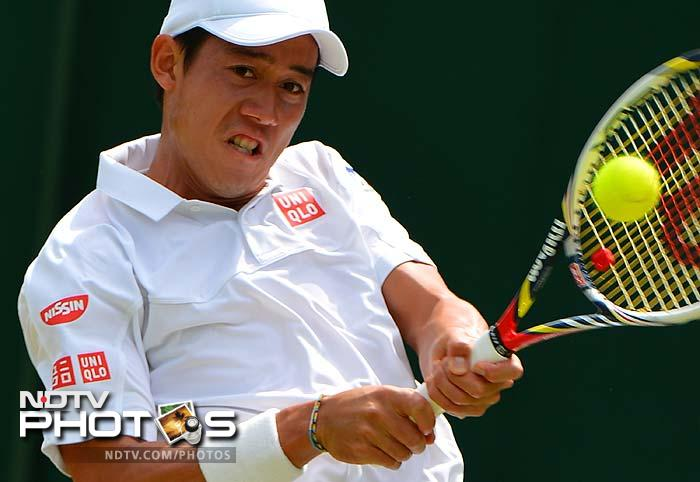 The Japanese flag was kept flying at Wimbledon by Kei Nishikori. He came away with a straight set win over Florent Serra of France. He won 6-3, 7-5, 6-2 to make it to the last 32, the first Japanese man in 17 years to reach the third round here.