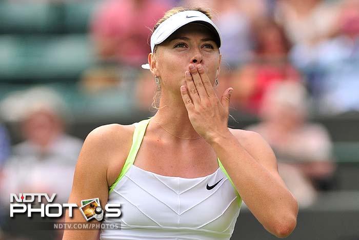 Maria Sharapova overcame Tsvetana Pironkova after the match went into the third set. Sharapova won 7-6, 6-7, 6-0.