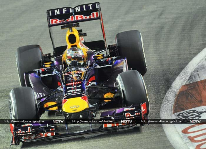 Sebastian Vettel took the top honours for Red Bull by taking pole position. (AFP Photos)