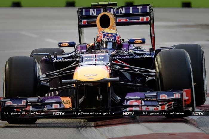 Mark Webber could not make a top three finish and lost out in the end to be fourth.