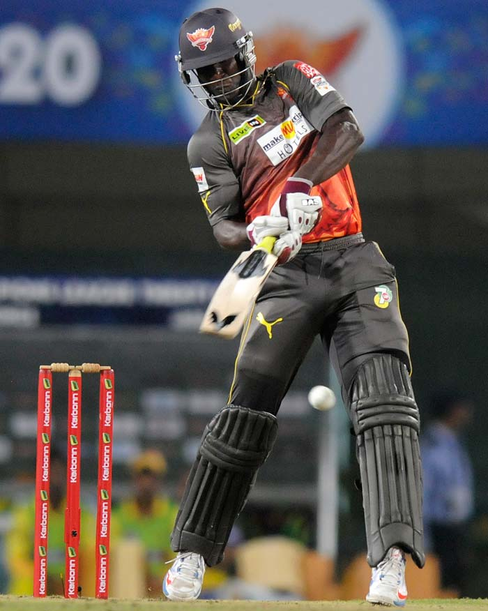 Darren Sammy was the last hope and he gave Hyderabad a fighting chance with 50 from 25 balls.
