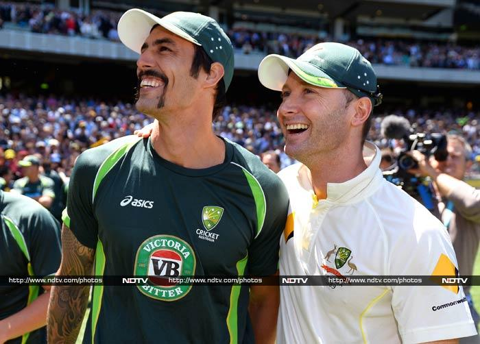 Mitchell Johnson was voted Man of the Match for his eight wickets. Clarke knows he has the perfect weapon in Johnson, with a South Africa tour to follow.