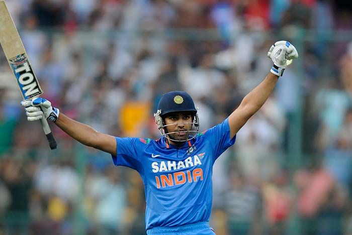 Rohit Sharma dazzled the eye and punished the Australians by smashing a sensational 158-ball 209 in the fifth and final ODI between the sides in Bangalore on Saturday. (BCCI image)