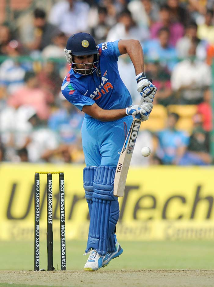 With the series tied at 2-2 it was a must-win game for India. Initially Rohit looked a bit out-of-sorts and had to graft his way past initial struggles. (BCCI image)