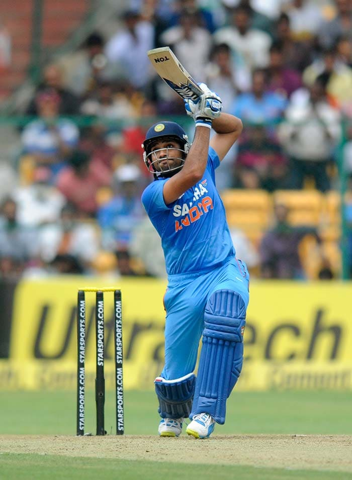 But once the initial struggles were conquered, Rohit got into his groove. Responsible for Virat Kohli's run-out, Rohit made up in style! (BCCI image)