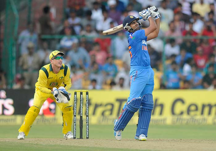 Rohit started with carting the spinners, as he eased to a well-made century in 114 deliveries. But the best was yet to come... (BCCI image)