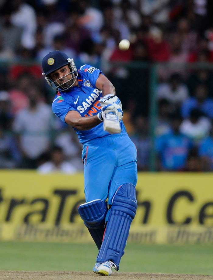 Rohit managed 16 sixes in his double century, the most by a batsman in ODI cricket, eclipsing Shane Watson's 15 made against Bangladesh in 2011. (BCCI image)