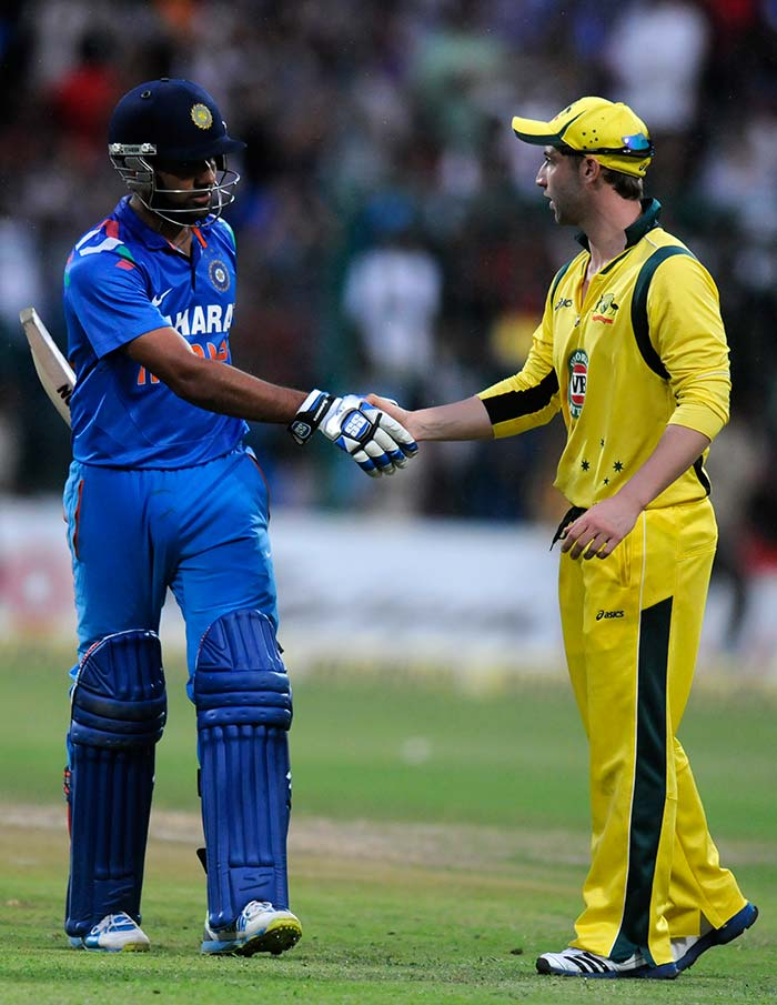 After his dismissal in the final over of the innings, Rohit was applauded off the field by the Australians as well as millions across the globe. It was definitely his best, and one of the most sensational ODI innings ever seen. (BCCI image)