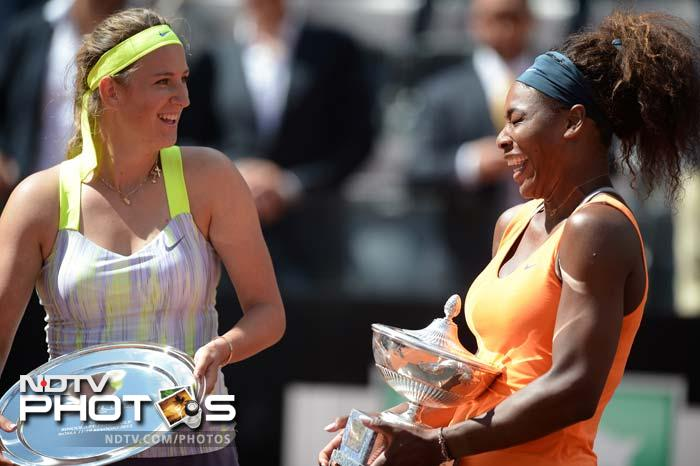 Williams broke Azarenka's serve three times in a one-sided first set and despite a tighter second set the American prevailed to stretch her career-best winning streak to 24 games.