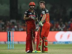 Photo : IPL: Virat Kohli-AB de Villiers Show Propels Bangalore to Big Win Over Hyderabad
