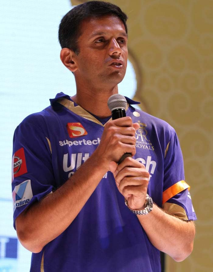 Rahul Dravid seen talking about the team at the fan wear launch