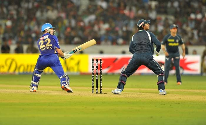 Johan Botha though, played a gem of an innings to ensure that his team never came under any pressure in the match. The Royals registered an emphatic 8-wicket win. (AFP Photo)