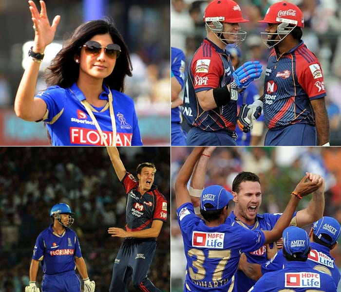 The Rajasthan Royals took on the Delhi Daredevils in the second league match for both sides, at the Sawai Man Singh stadium in Jaipur on Tuesday. (AFP Photo)