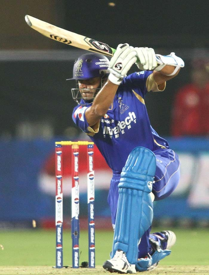 Rahul Dravid took his time to negate the early loss of Watson. He hit 17 off 20. (BCCI image)