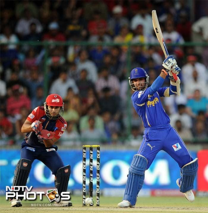 Rahane blazed past the bowlers with ease and hit boundaries and shots beyond with ease. The change in script though was reserved for the final two overs.