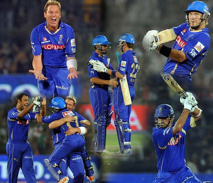 Runs galore are not the only highlight in a T20 contest. Rajasthan Royals proved that their bowling too can create much havoc as they took on the Kochi Tuskers at Jaipur on Sunday. (AFP Photos)