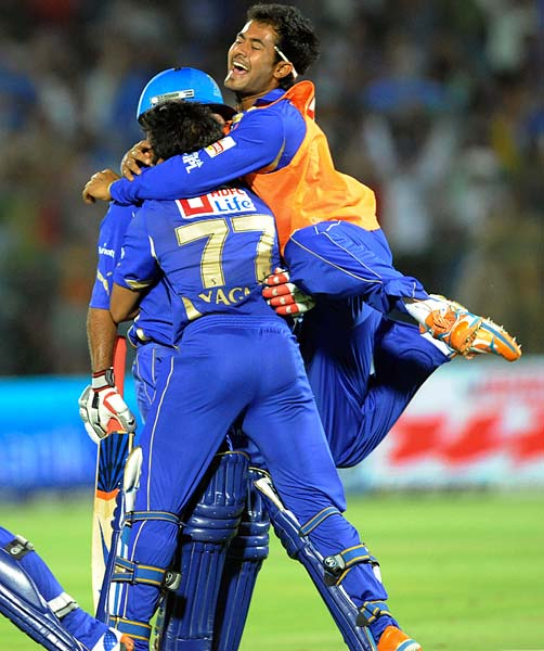While the six-wicket win saw the Royals erupt in celebrations, it also meant the sixth consecutive loss for the Pune Warriors.