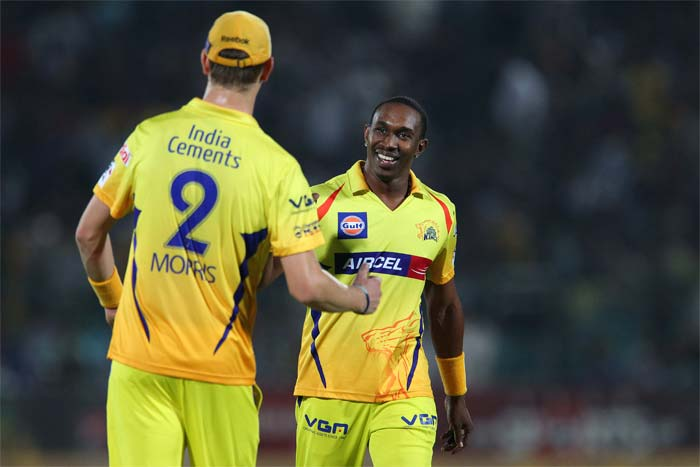 Dwayne Bravo went wicketless in his first three overs was simply outstanding in the final over as he picked three wickets to finish at 3/26.