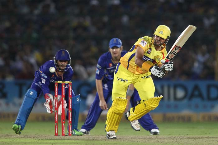 Suresh Raina played a good hand but was under tremendous pressure as he lost out on partners. He too played a loose shot to bring an end to his 29-run knock.