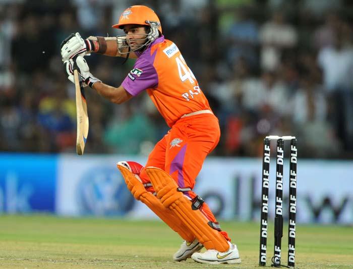 Kochi Tuskers Kerala batsman Parthiv Patel plays a shot during the IPL Twenty20 match against Rajasthan Royals at the Holkar Stadium in Indore. (AFP PHOTO)