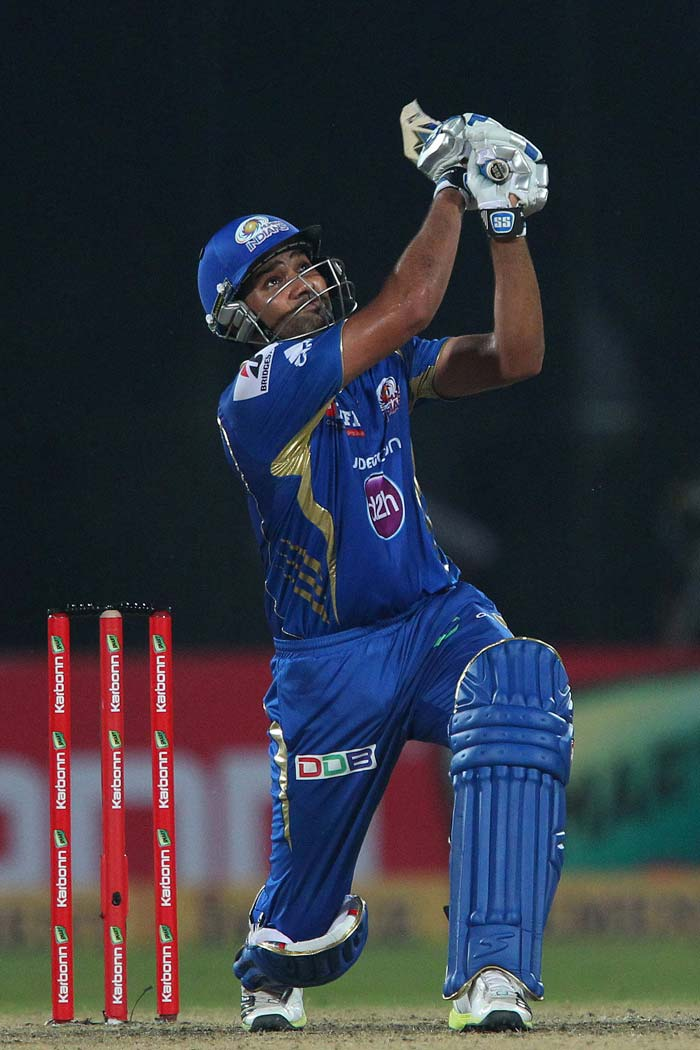 Rohit Sharma played a fiery 14-ball 33 to power Mumbai in the middle overs.