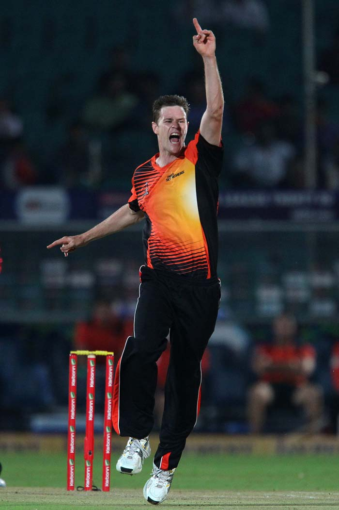 Rajasthan Royals' run chase received as they lost Rahul Dravid in the first over. Jason Behrendorff removed Royals' skipper on the fourth ball.