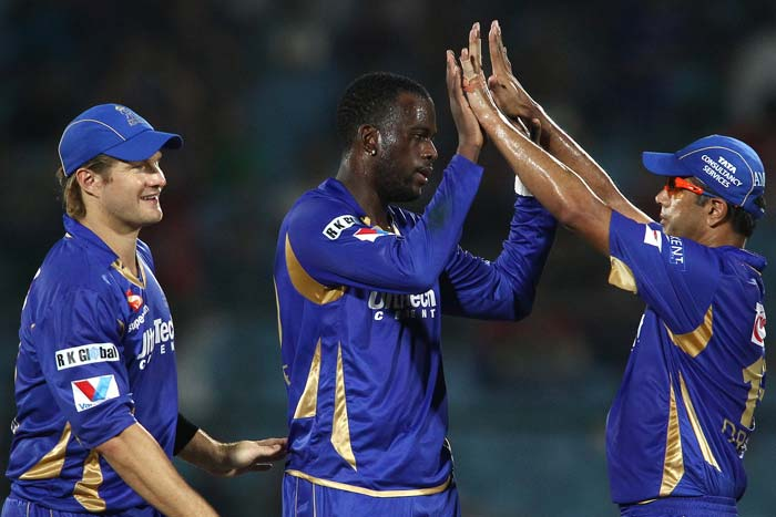 Kevon Cooper bagged two wickets in his first over to derail Perth Scorchers' innings. He finished with four for 18.