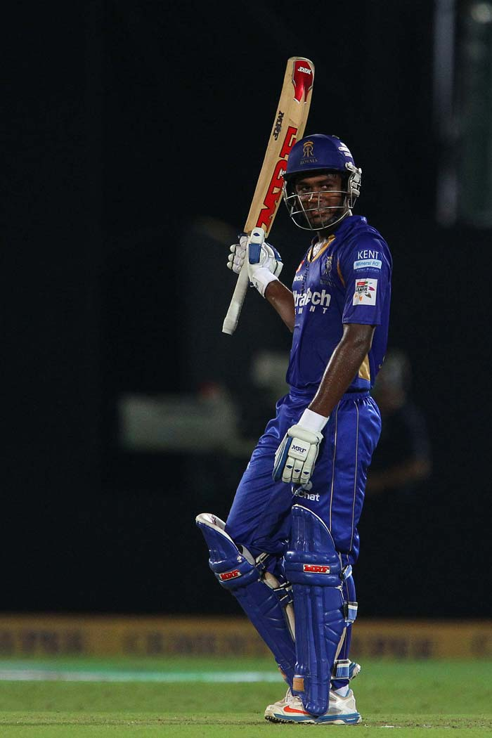 But Sanju Samson and Ajinkya Rahane remained not out to script a 9-wicket victory over Perth Scorchers to guide Rajasthan Royals to semifinals.