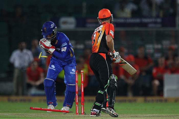 Sanju Samson was at his best behind the stumps. First he stumped skipper Simon Katich and then effected a run out on the last ball of Perth's innings.