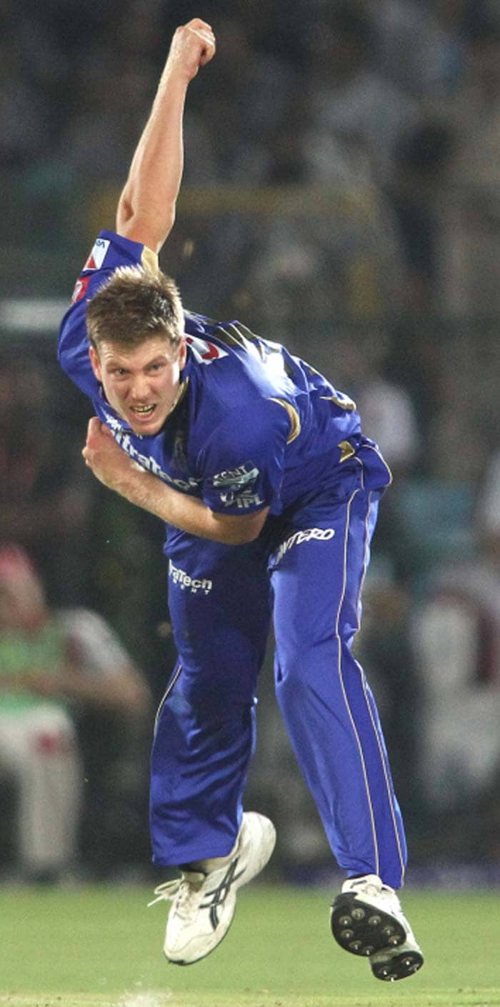James Faulkner, picked up his first IPL man-of-the-match award for his two wickets and excellent fielding in the outfield. Faulker's direct hit resulted in talented Punjab youngster Manan Vohra's run out. (BCCI image)