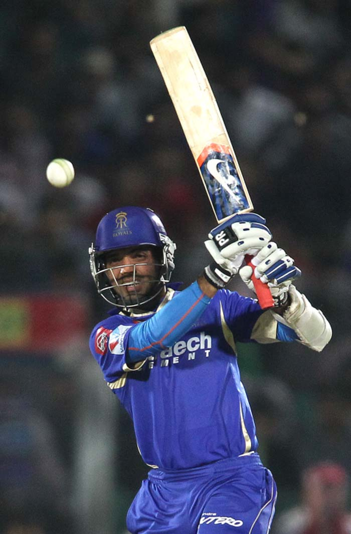 Ajinkya Rahane played the perfect sheet anchor's role for his side, making sure he was there till the end. He scored a responsible knock of 34 not out from 42 balls, hitting just three fours in all. (BCCI image)