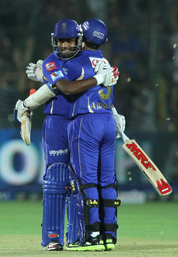 18-year-old Samson, though, kept a cool head and his three nonchalant fours relieved the pressure off Rahane. The two shared a responsible 47-run stand to take Rajasthan home and clinch a third win in the IPL 2013 in four games. The win also meant that the home team kept intact their record of staying unbeaten at home against Punjab in the tournament history. (BCCI image)
