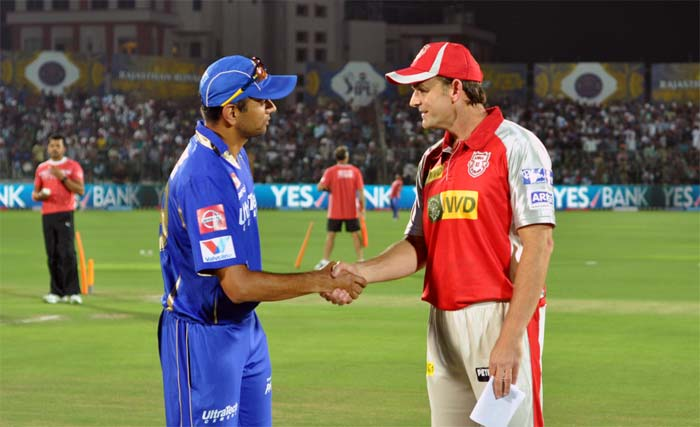 This was the encounter between two of the most gentle men seen on a cricket field. Rahul Dravid and Adam Gilchrist, both above 40 years of age, came into the match leading their young and energetic sides. Dravid won the toss and invited Gilchrist's Punjab in to bat. (Image courtesy: BCCI)
