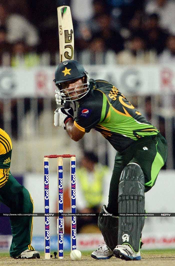 Pakistan's reply was given a respectable look by Sohaib Maqsood who slammed a fifty again. The team however failed.