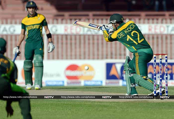 Opener Quinton de Kock - who had scored his maiden century in the previous encounter - also played well for his 34 which had five fours.